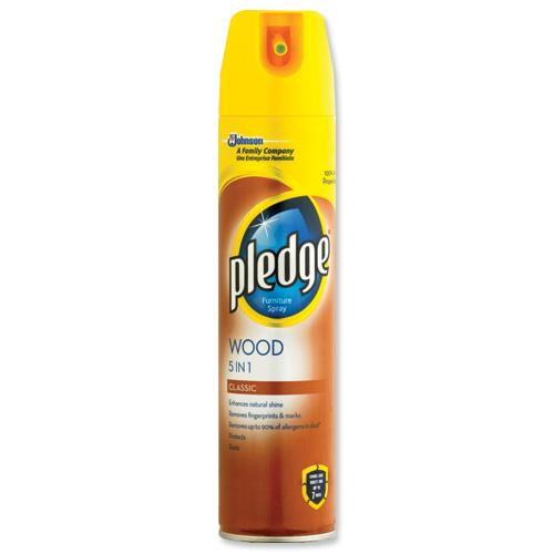 Pledge Wood 5in1, spray do czyszczenia powierzchni drewnianych, 250 ml Image