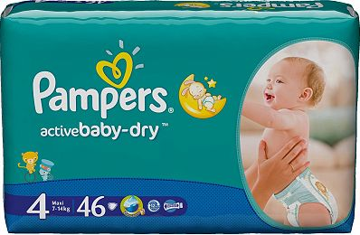 Pampers Active Baby Dry 4 Maxi, pieluchy 7-18 kg, 46 szt. Image