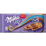 Milka Chips Ahoy!, czekolada z nadzieniem mlecznym i kawałkami herbatników z czekoladą 100 g Image
