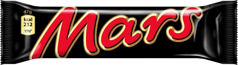 Mars baton z nugatowym nadzieniem oblany karmelem i czekoladą 47 g Image