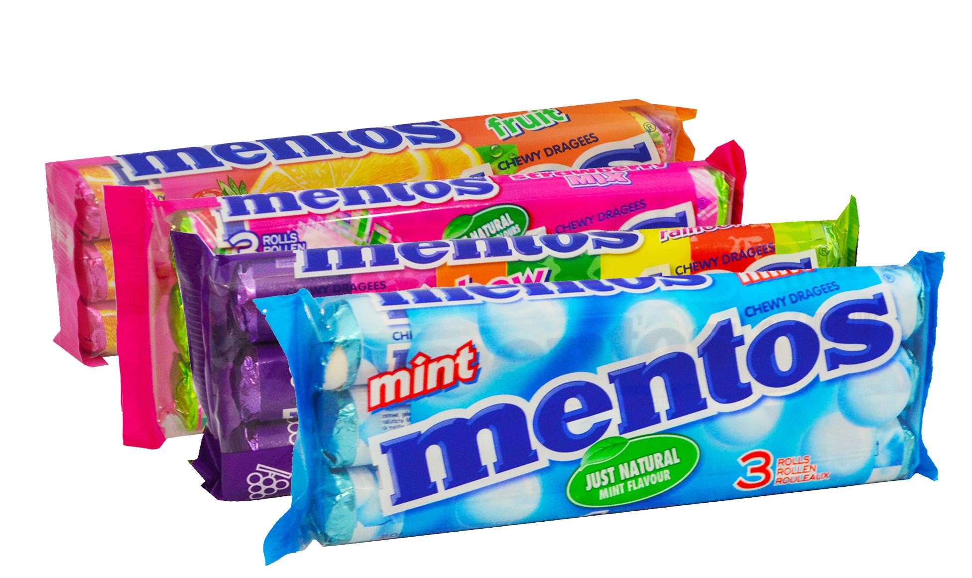 Mentos Rainbow drażetki do żucia różne smaki 3 x 38 g Image