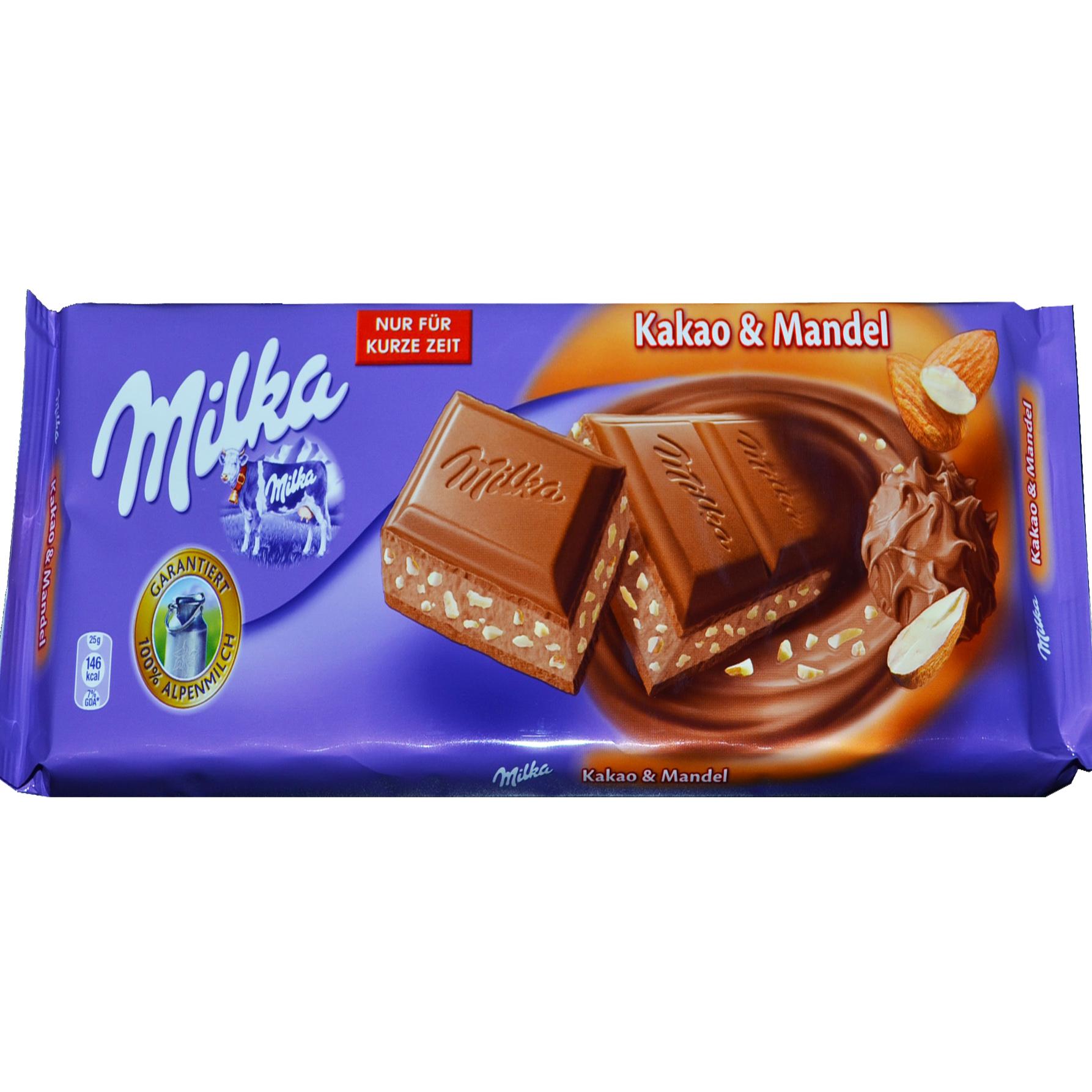 Milka Kakao & Mandel czekolada z kremem kakaowo – migdałowym 100 g Image