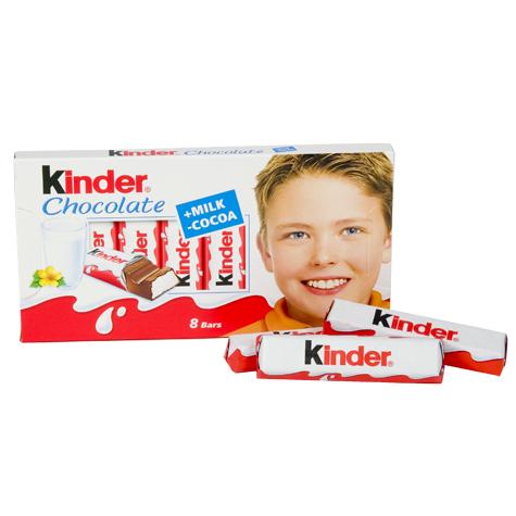 Kinder Chocolate, batoniki w czekoladzie mlecznej z nadzieniem mlecznym 8 szt., 100 g Image