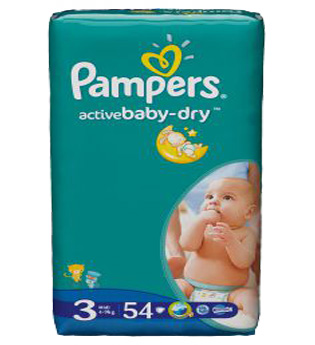 Pampers Active Baby Dry 3 Midi, pieluchy 4-9 kg, 54 szt. Image