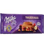 Milka Trauben Nuss, czekolada mleczna z orzechami i rodzynkami, 300 g Image
