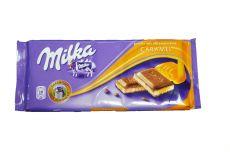 Milka Caramel, czekolada mleczna z nadzieniem mlecznym i karmelem, 100 g Image
