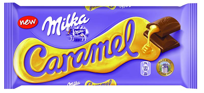 Milka Caramel, czekolada mleczna z nadzieniem karmelowym 100 g Image