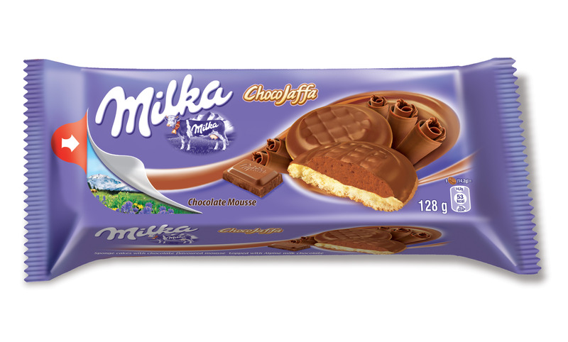 Milka Choco Jaffa, biszkopty z musem czekoladowym, 128 g Image