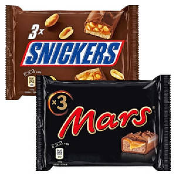 Snickers baton z nugatowym nadzieniem i orzeszkami ziemnymi w karmelu i czekoladzie, 3 x 50 g Image