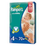 Pampers Active Baby 4 Maxi, pieluchy 7-18 kg, 70 szt. Image