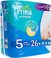Pampers Prima Aktif Bebek 5 Junior, pieluchy 11-18 kg, 26 szt. Image