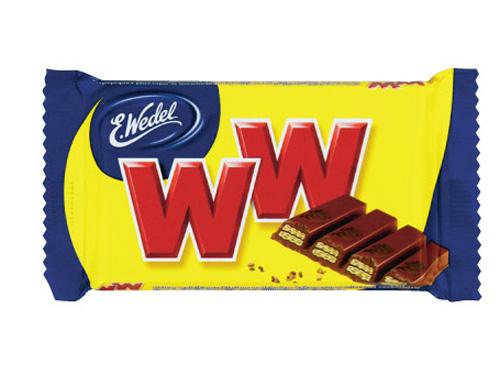 Wedel WW, wafelek w czekoladzie przekładany nadzieniem orzechowym, 45 g Image