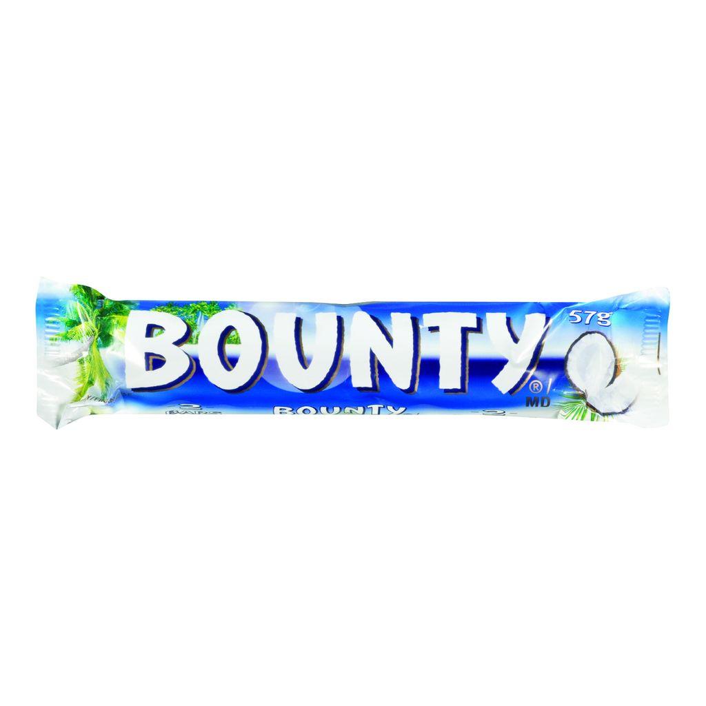 Bounty, baton z nadzieniem kokosowym oblany czekoladą, 57 g Image