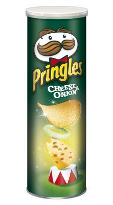 Pringles Cheese & Onion - chrupki o smaku serowo - cebulowym 165 g Image