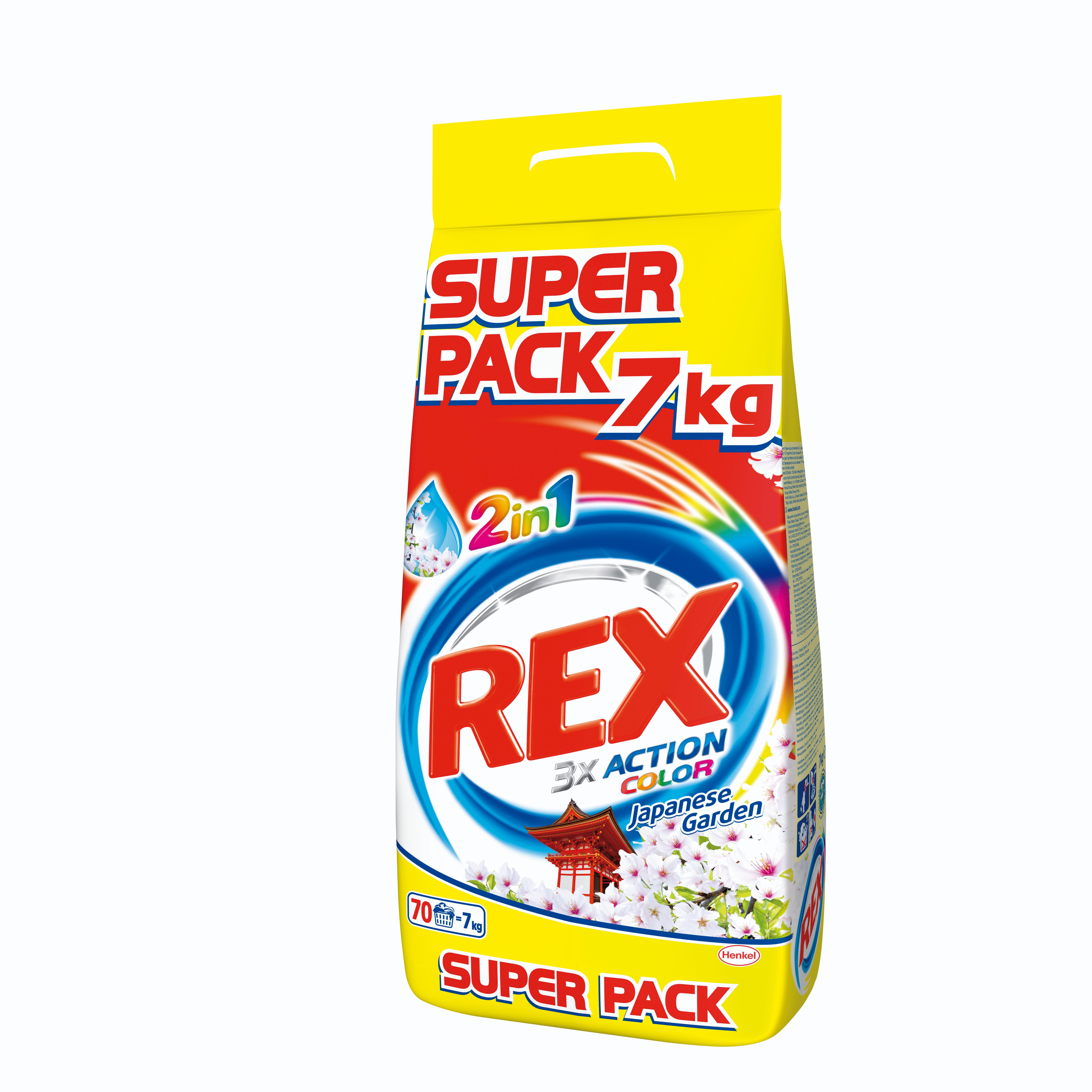 Rex 2in1 Japanese Garden, proszek do prania tkanin kolorowych, 7 kg Image