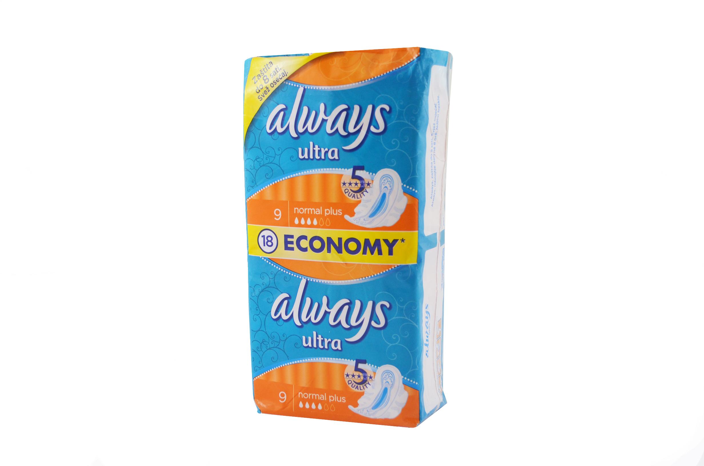 Always Ultra, podpaski 18 sztuk Image