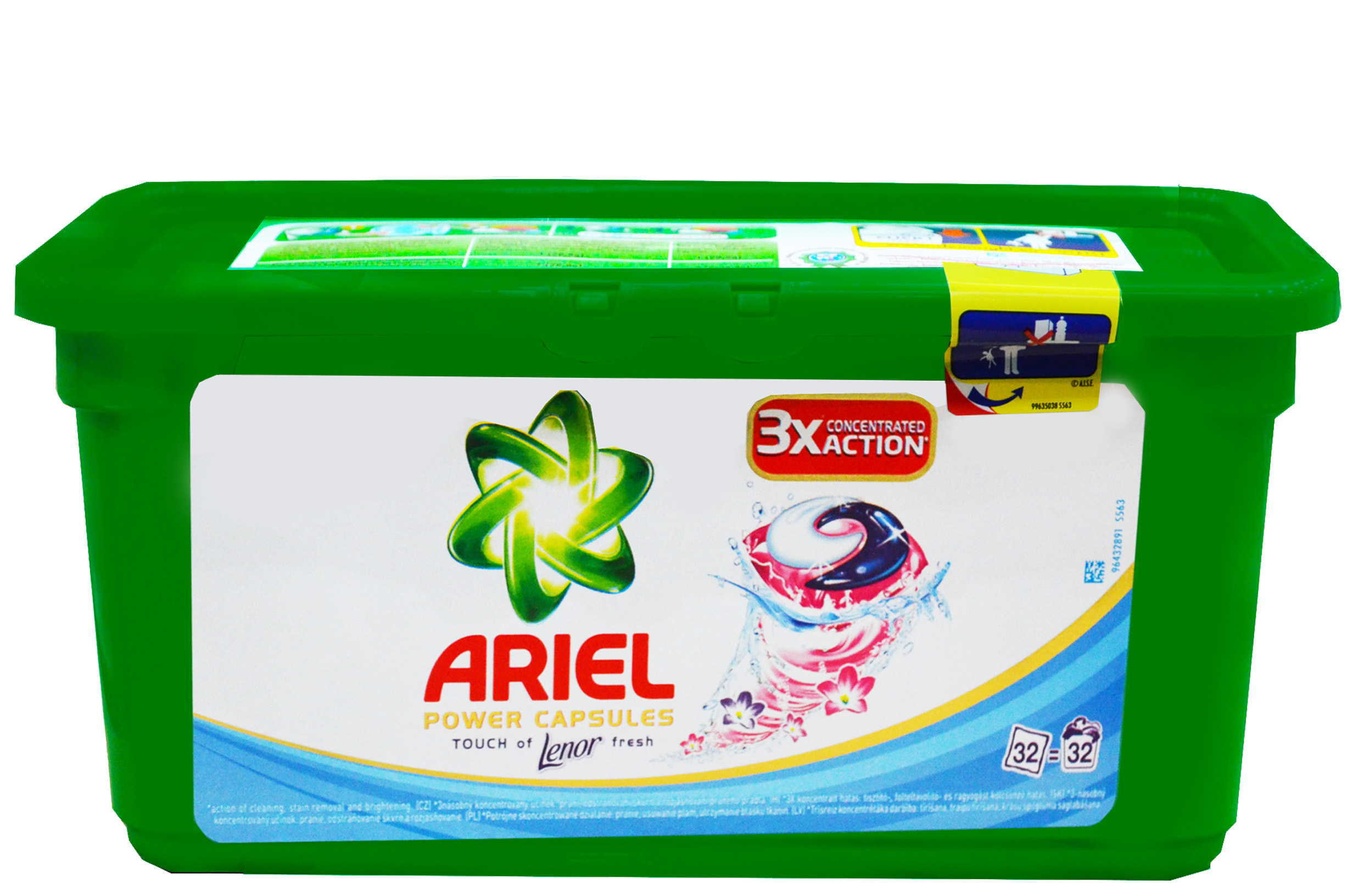 Ariel Power Capsules, kapsułki do prania z płynem do płukania, 32 szt. Image