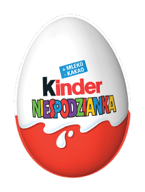 Kinder Niespodzianka, jajko z mlecznej czekolady z zabawką, 20 g Image