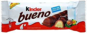 Kinder Bueno, wafel z nadzieniem pokryty mleczną czekoladą 2 sztuki, 39 g Image