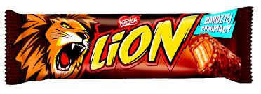Lion, nadziewany wafel z karmelem, płatkami pszennymi w polewie kakaowej, 42 g Image
