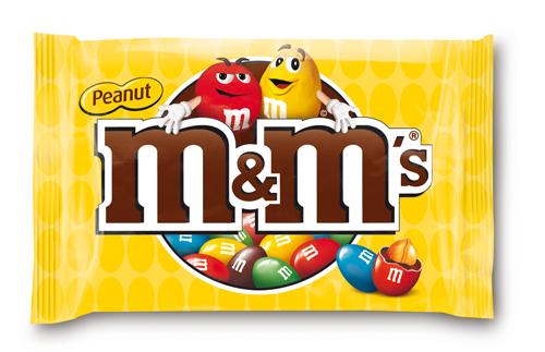 M&M's Peanut orzeszki ziemne oblane czekoladą w kolorowych skorupkach 45 g Image
