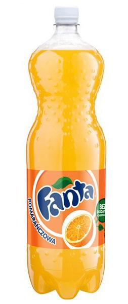 Fanta, napój gazowany o smaku pomarańczowym, 2 l Image