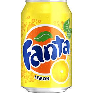 Fanta Lemon, napój gazowany o smaku cytrynowym, 330 ml Image